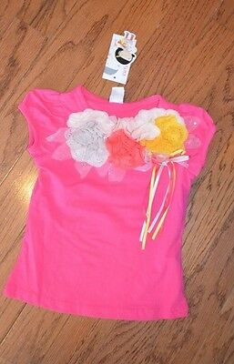 Girls Cute Princess Pink Flower Top ~ Sz 110 / 2/3