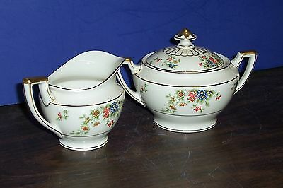 Heinrich Selb Bavaria Germany Meadow Cream And Covered Sugar Bowl Never Used