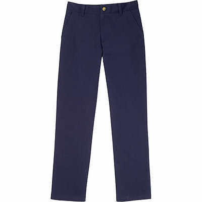Boys 12 Navy Blue French Toast School Uniform Pants Flat Front Adjustable Waist