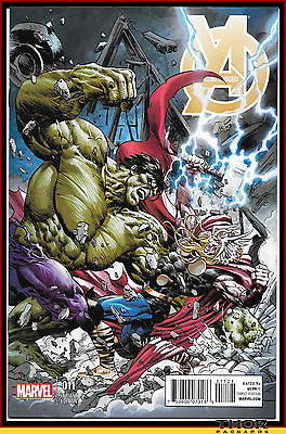 Young Avengers #11 Mike Deodato 1:20 Thor Vs Hulk Battle Variant Ragnarok 9.4 Nm