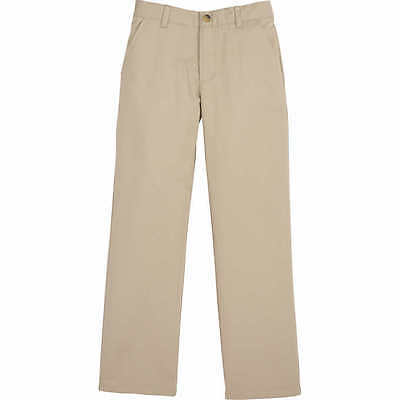 Boys 12 Khaki Tan French Toast School Uniform Pants Flat Front Adjustable Waist