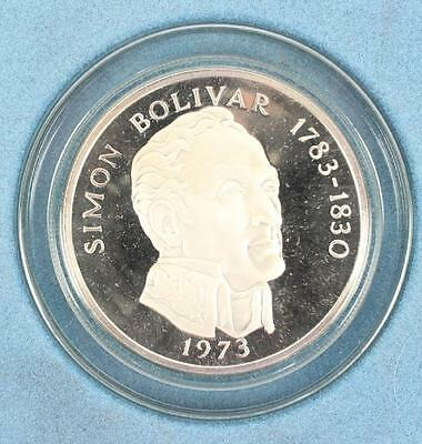 1973 Franklin Mint Sterling Silver 20 Balboas Coin