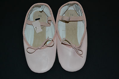FREESTYLE Danskin Pink Leather Ballet Dance Shoes 13 (Toddler) NWT!