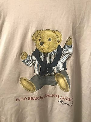 Ralph Lauren Polo Bear Mens Large T-Shirt Rare Vintage