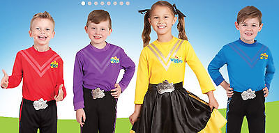 Wiggles Boys Deluxe Costume Purple Blue Red Or Girls Emma Yellow Wiggle Costume