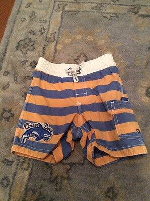 Baby Gap Toddler Boys Bathing Swim Suit Trunks Size 18-24 M Striped Orca
