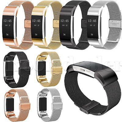 Luxury Stainless Steel Metal Watch Band Wrist Strap for Fitbit Charge 2 Tracker