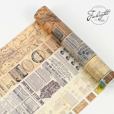 8 Meters Vintage Washi Paper Masking Adhesive Tapes Decorative Tape DIY