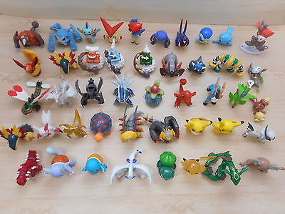 Pokemon Figure Tomy Lot of 45 Monster Collection Set Clear