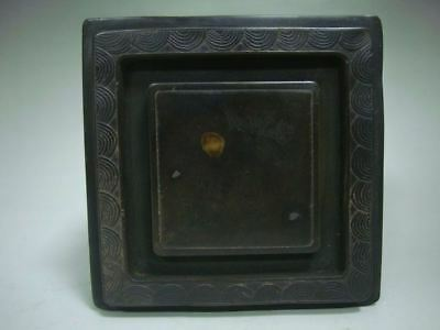 1.6 KG Rare Heavy Old Chinese Hand Carved Square Ink Stone Ink Slab QA332