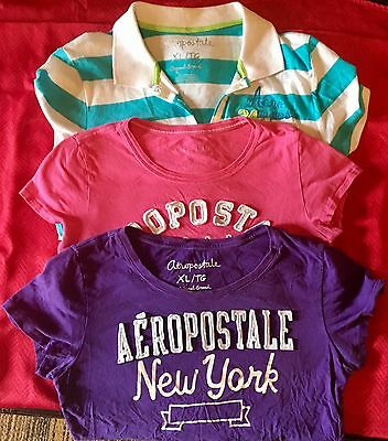 Aeropostale short sleeved shirt L/XL lot of 3