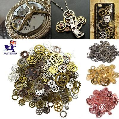 Steampunk Set 100g Cyberpunk Jewellery Cogs and Gears Watch Parts Craft Arts