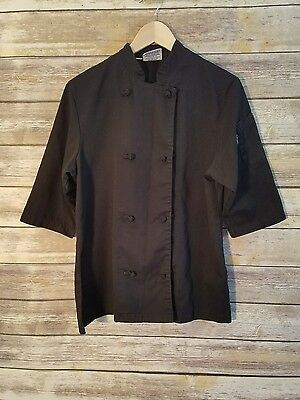 'New Chef' Coat Fashion California Cook Black 3/4 Sleeve - Asian Flair - Size M