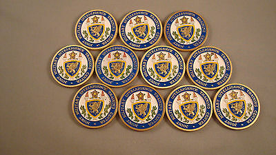 Lot of 11 Joint Military Intelligence Training Center JMITC Challenge Coins