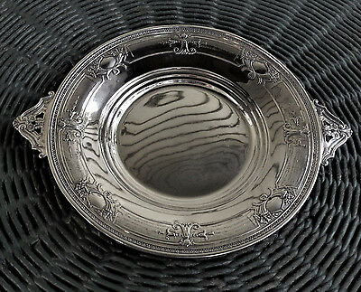 ANTIQUE WEBSTER STERLING SILVER Repousse & Open handled VTG SERVING PLATE TRAY