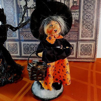 """Annalee Halloween 10"""" Checker Dot Witch Hag - #302315 - Nwt- 2015 - Looking Left"""