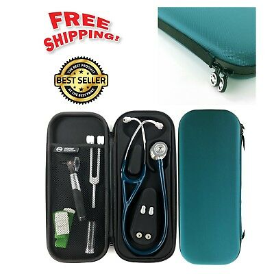 Cardiopod Cardiology Stethoscope Medical Littmann Mesh Pocket Carry Case Teal