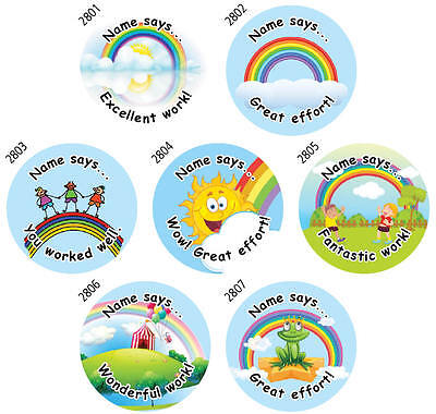 280 Personalised Teacher Stickers - Reward Stickers Made 4U - FREE POSTAGE
