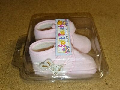soft touch infant shoes pink bunny sz 0-3, 3-6 ,6-9