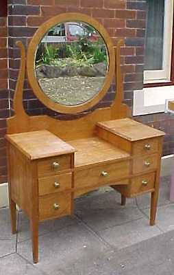 Early Australian 1920 QUEENSLAND MAPLE dressing table  CAN DELIVER