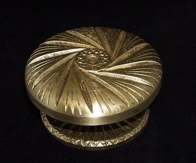 Vintage Greece Solid Brass Large Ornate Door Knob Handle Push/Pull #22