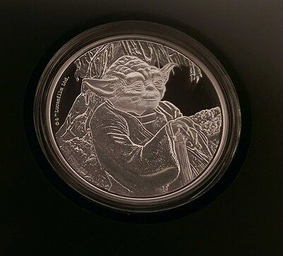 2016 Niue Silver Star Wars 1 oz Master Yoda Proof $2 Coin