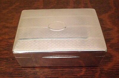 Art Deco Sterling Silver Jewelry Box Chest Large Solid .925 Vintage 259g ~ RARE