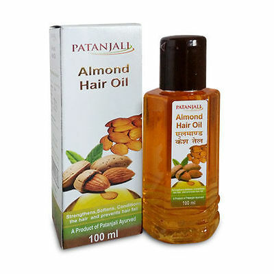 Patanjali Almond Hair Oil Use For Strengthens, Softens, Hair fall 100ml x 2