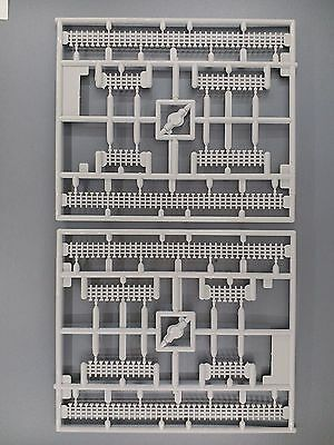 2 Plates KATO Precast Concrete Fence Sections for N model railway