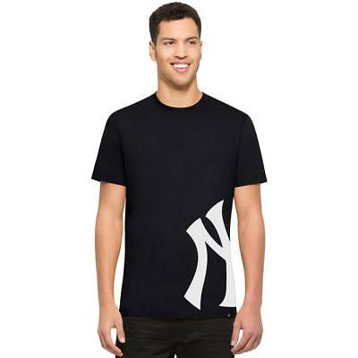 NEW New York Yankees MLB Midnight Double Coverage Tee by 47 Brand