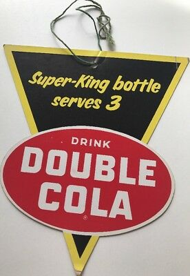 Vintage Antique Collectible 1947 Super King Double Cola Soda Advertising Sign