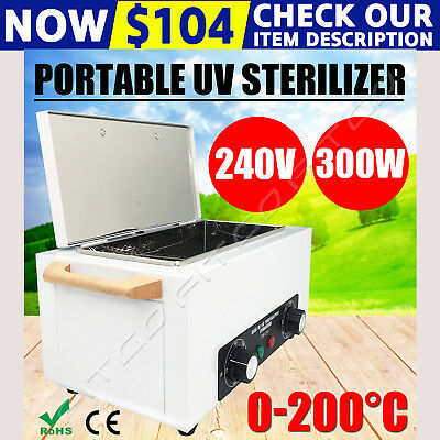 Portable Dry Heat Sterilizer Cabinet UV Autoclave Dental Medical Instruments OZ