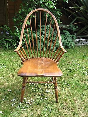 Pretty Golden Oak Windsor Stickback Smokers Chair