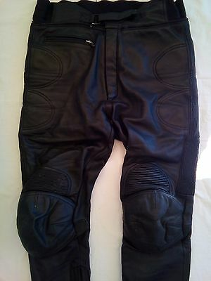 "IXS Men's Motorcycle Leather pants Size EU58 W38"" Black"