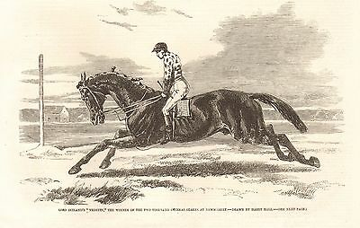 """1857 Antique Print- """"vedette"""" Winner Of 2000 Guineas At Newmarket"""