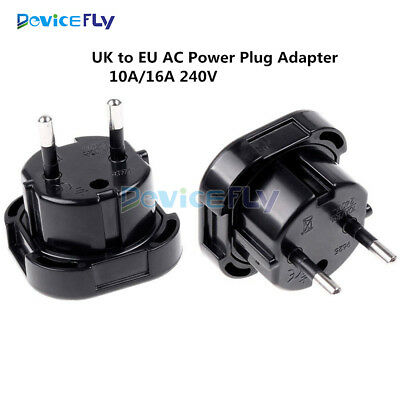 Universal Travel UK to EU Euro AC Power Plug Charger Adapter Socket Converter