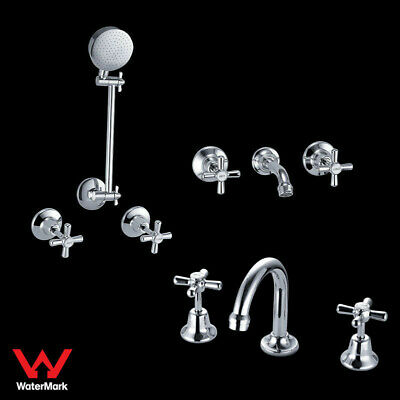 WELS Eleb Bathroom Tap Sets Package Bath Basin Shower Set Brass Chrome WaterMark