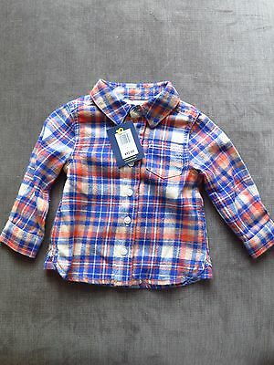 Baby Boys chequered shirt 3-6 months new with tags John Lewis.