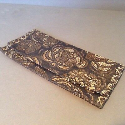 Antique Chinese Silk Embroidered Pouch Purse Wallet