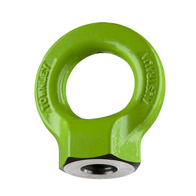 NEW industrial lifting equipment M12 Grade-8  Hi-Tensile Eye Nut: WLL: 1.6 Tonne