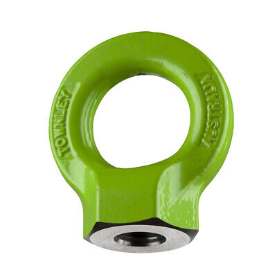 NEW industrial lifting equipment M24 Grade-8  Hi-Tensile Eye Nut: WLL: 8.0 Tonne