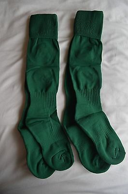 2 x pairs Bottle Green knee high football rugby sports PE socks 1 - 5.5 youths