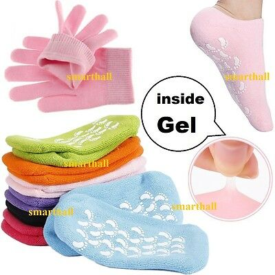 NEW Spa Gel Socks Gloves Exfoliating Dry Heel Cracked Skin Moisturizing insoles