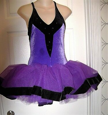 ADULT SIZE SMALL PURPLE BALLET LEOTARD TUTU DANCING DANCE FREE SHIPPING costume