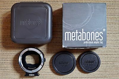 NEW Metabones Canon EF - E Mount T Lens to Sony NEX Camera Lens Adapter Mark IV