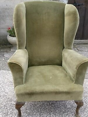 Antique Wing Chair Antique Wing Back Armchair or for  upholstery project