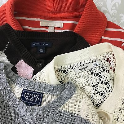 Lot of 4 sweaters cardigans S Banana Republic Tommy Hilfiger Old Navy knit tops