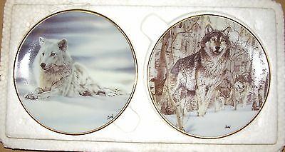 The Hamilton Collection,  Two (2) Year of the Wolf, Mini Plate, 1998