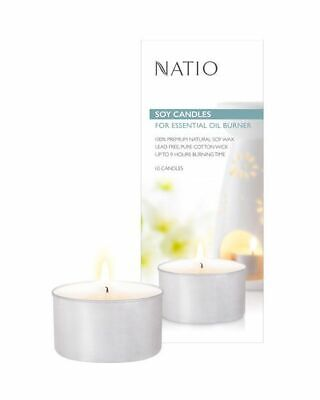 Natio soy candles for essential oil burner