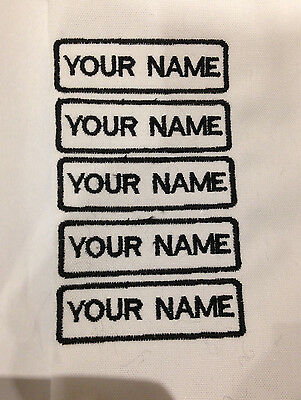 Personalised embroidered iron/sew on name badge for school,daycare,rest home